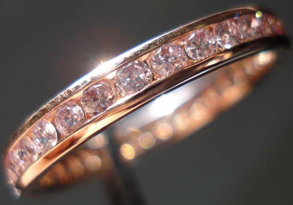 Diamond Wedding Band Pink Gold With Natural Diamonds Precision Set So3290